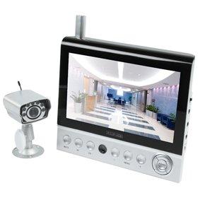 SYSTEME DE SURVEILLANCE CAMERA SANS FIL IR AUDIO VIDEO MONITEUR LCD 7