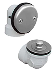 Jones Stephens Plumbest Final Touch B07-11AN Shower and Bath Hardware Standard Two-Hole Schedule 40 Lift and Turn Half Kit, Antique Nickel at Sears.com