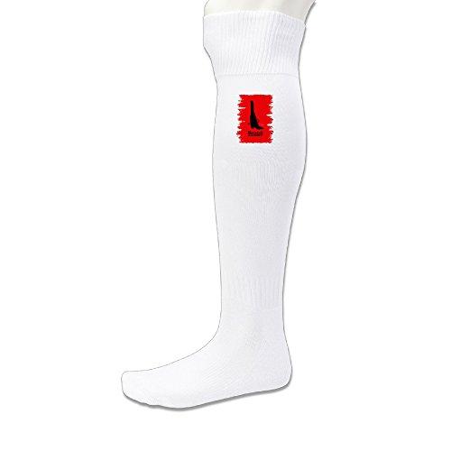 LFISH3 Disgusting Eight Person Athletic Football Socks - White