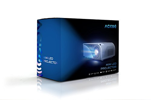 Acko Portable Mini Hd Led Video Projector Office Home