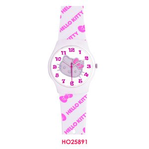 Hello Kitty Face Dial Pink & White Watch