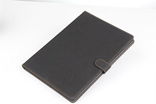 Apple Ipad Air 2 Case Borch Fashion Luxury Multi-Function Protective Retro Leather Light-Weight Folding Flip Smart Case Cover For For Ipad Air 2 (Black)