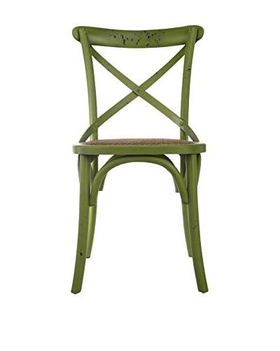 David Tutera Bistro Chair, Distressed Green