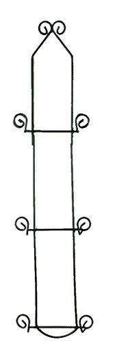Economy 3 Tier Black Vertical Plate Rack Holder (Plate Rack For Wall compare prices)