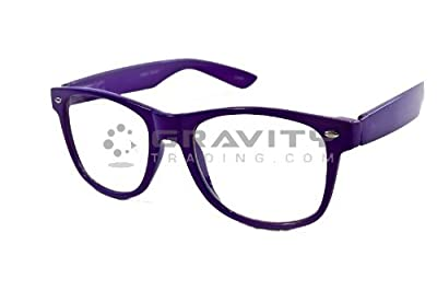 "Vintage ""Buddy"" Wayfarer Sunglasses - (6 Colors Available) (Purple)"