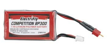 Great Planes LiPo 2S 7.4V 300mAh 20C Competition BP Series GPMP0700