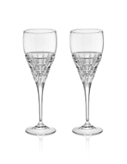 2 Linear Wine Glasses