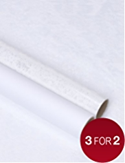 Snowflake Clear Christmas Wrapping Paper with Co-ordinating Tissue - 4m
