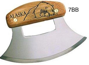 "Alaskan Ulu, Inupiat Style with Polar Bear Etched Handle, 6"""