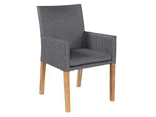 YORK Garten Sessel Textilene Grau günstig