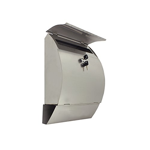 ALEKO-USMB-04-Wall-Mounted-Mail-Box-with-Retrieval-Door-Newspaper-Compartment-and-2-Keys