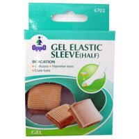 Oppo Half Gel Toe Elastic Sleeve, Size: Small, Model No : 6702 - 2 / Pack