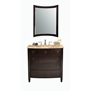virtu usa ls 1041t venice 36 inch single sink bathroom vanity with