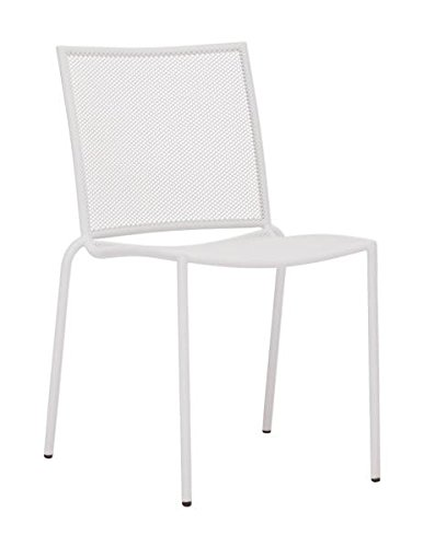 Zuo Outdoor Repulse Bay Chair, White, Set Of 4