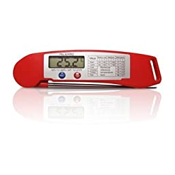 Best Ultra Fast Instant Read Digital Electronic Barbecue Meat Thermometer With Collapsible Internal Probe. Lifetime Replacement Guarantee! (Chipotle)