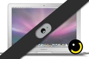 SpiShutter (Black) - Magnetic Webcam Shield for Macbook Laptops