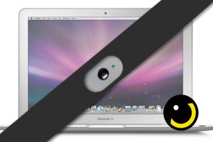 SpiShutter (BLACK) - Webcam Cover for Macbook Laptops