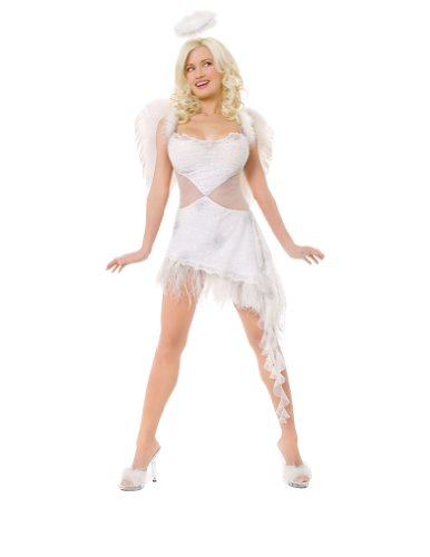 Adult-Costume Playboy Hefs Angel Xs Halloween Costume - Adult Extra Small