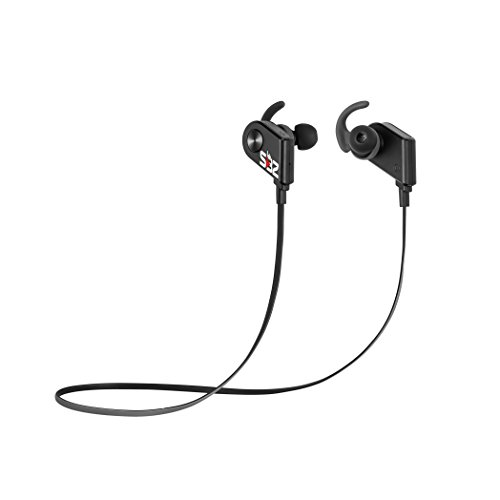 Bluetooth Headphones Wireless Magnetic Sport Earbuds w/ Mic, Noise Cancelling Earphones, Sweatproof & Hands Free Calls, Secure Fit for Running / Workouts, Premium HD Sound Quality BONUS Carrying Pouch (Platinum Bluetooth Headphones compare prices)