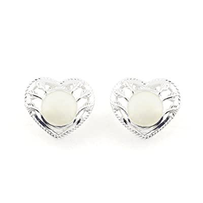 Silver Heart Clip Earrings