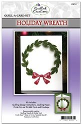 Quilled Creations Quill A Card Kit Holiday Wreath; 3 Items/Order