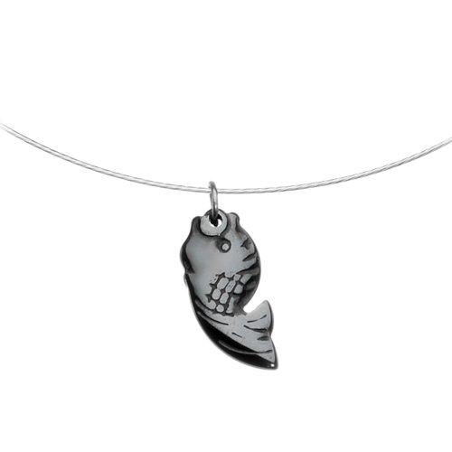 Hemalyke 19mm Fish Choker Necklace