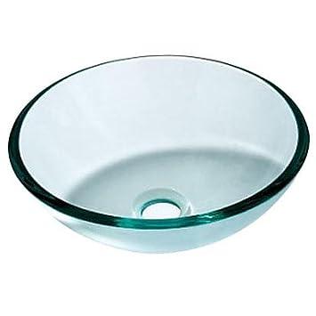 FOTOS PRODUKT AUS: Moderne Gehärtetes Glas Round Waschbecken Mit Wasser  Ablassen Und Montage Ring.