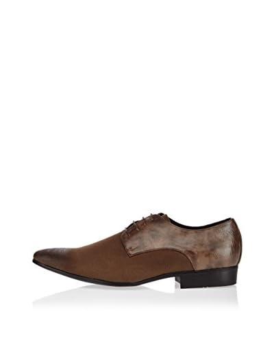 Galax Zapatos Derby Grabado Marrón