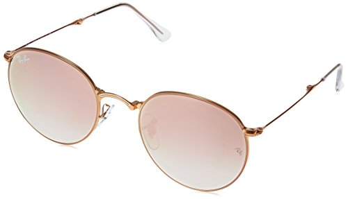 Ray-Ban-METAL-MAN-SUNGLASS-SHINY-BRONZE-Frame-COPPER-FLASH-GRADIENT-Lenses-47mm-Non-Polarized