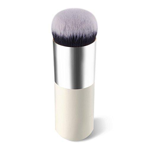 E-TOP Pinceaux Maquillage Brosse Cosmétique Brosse à Fond de Teint Pinceau de Maquillage Pinceau à Fond de Teint Professionel pour Liquide Crème Poudre(Argent)