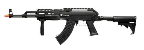 Licensed Echo1 Red Star Arms Ak-Cpw Electric Airsoft Gun Full Metal Fps-420 W/ High Cap. Magazine