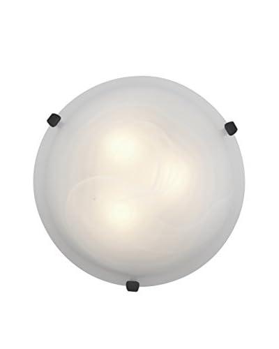 Access Lighting Mona 1-Light LED Wall/Flush Mount, Rust/Alabaster