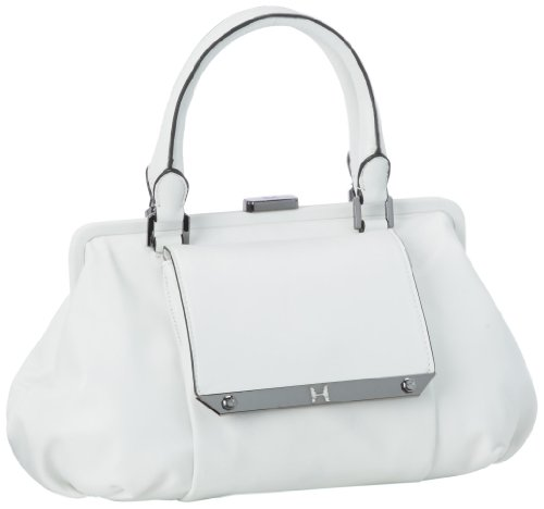 Halston Heritage MF250001L3 Satchel,White,One Size
