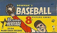 2004 Bowman Heritage Baseball Cards Hobby Box(24 packs/box)