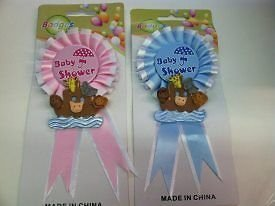 Shower Baby Boy Mom to Be Badge Corsage Decoration : Everything Else