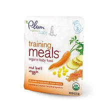 Plum Organics Baby Training Meals Organic Baby Food: Stage 3, Red Lentil Veggie 4 oz pouch