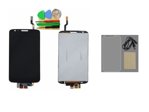 Black Lcd Touch Screen Digitizer Lens Panel Assembly+Protector+Usb Cable For Lg Optimus G2 D800 D801 D803 +Tools