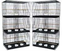 Brand New Lot of SIX Aviary Breeding Bird Cage Cages 24x16x16BLACK