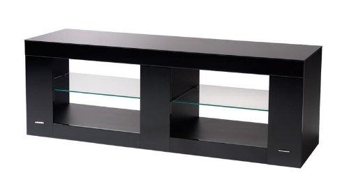 Gisan PLS59NE Meuble TV pour Ecran plat 137 x 49,5 x 42 cm Noir Laqué