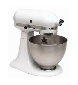 kitchenaid k45sswh made in usa classic powerful 250 watts stand mixer