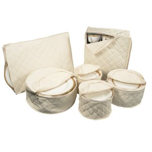 6 Piece Tabletop Polyester Dinnerware Storage Set (Richards China Storage compare prices)