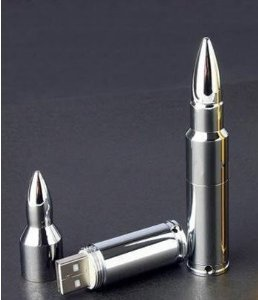 64 Gb USB Memory Stick Flash Pen Drive Mental Bullet Silver