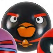 "Angry Birds Space 3"" Foam Ball - Black Firebomb Bird - 1"