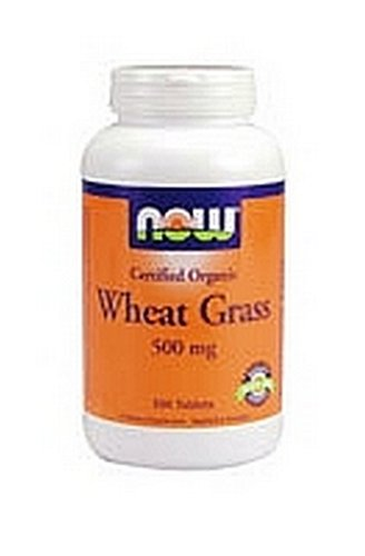 NOW Foods Wheat Grass 500 Tablets 500 Mg