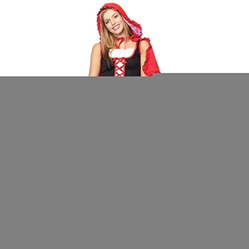 [GSG Lil' Miss Red Teen Junior Preteen Tween Little Riding Hood Halloween Costume] (Little Miss Princess Costume)