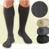 ACTIVA MENS MICROFIBER DRESS SOCKS CHRONIC LEG RELIEF BLACK LARGE