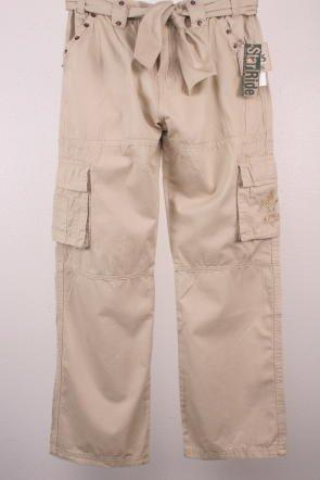 Awesome Hugo Boss Tan Khaki Pants Womens 4 Cotton Blend Wide Leg Low Rise