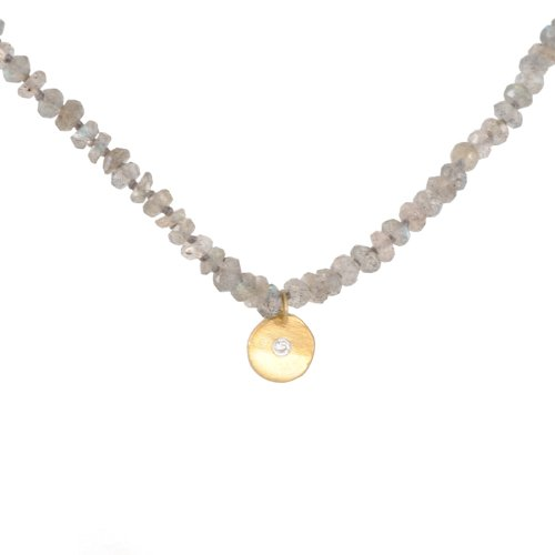 KATIE DIAMOND- Labradorite Lucie Necklace