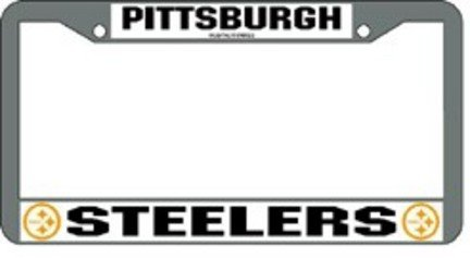 2 pittsburgh steelers chrome plate frames