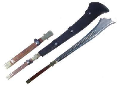 Two Handed Medieval Chopper Sword